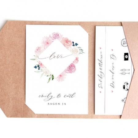 Pocketfold-Einladungskarten